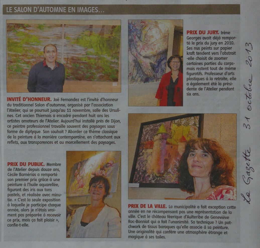article La Gazette de Thiers