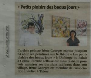 article de La Gazette 29-05-2014