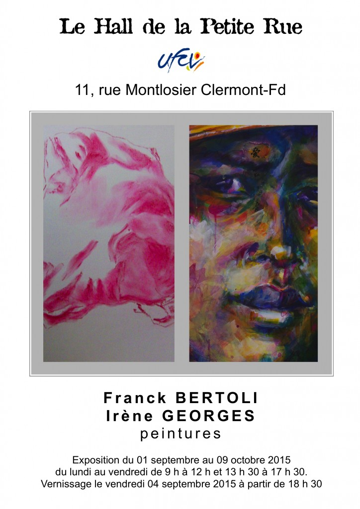 AFFICHE expo Bertoli-Georges