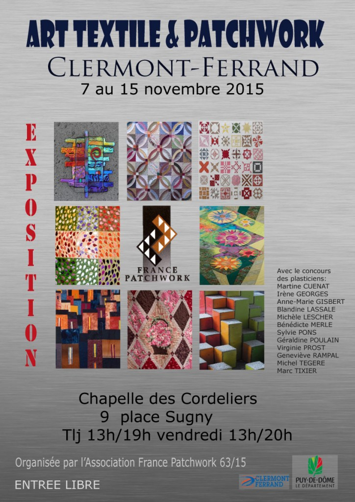 AFFICHE Expo France Patchwork 2015