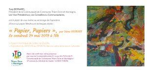 Invitation-exposition-Papiers-Papiers 2019 jpg