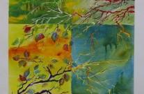 Peinture sur les étangs – Orléat  20 septembre 2015 –