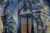 Porche de l'église de Celles – 1