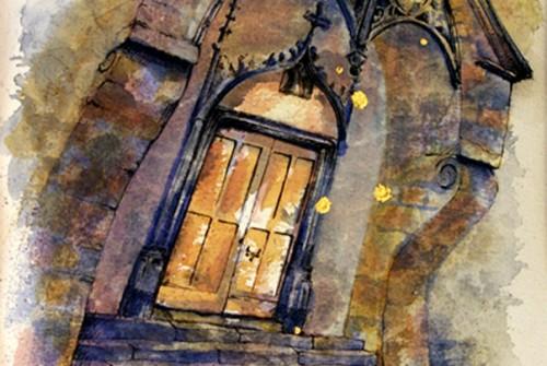 Porche de l'église de Celles – 2
